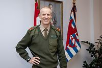 IPO , ITV General Steve Thull , Chef der luxemburgischen Armee , Chef d`Etat Major , Foto:Guy Jallay/Luxemburger Wort