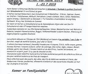 Schoulsack- Aktioun 2019