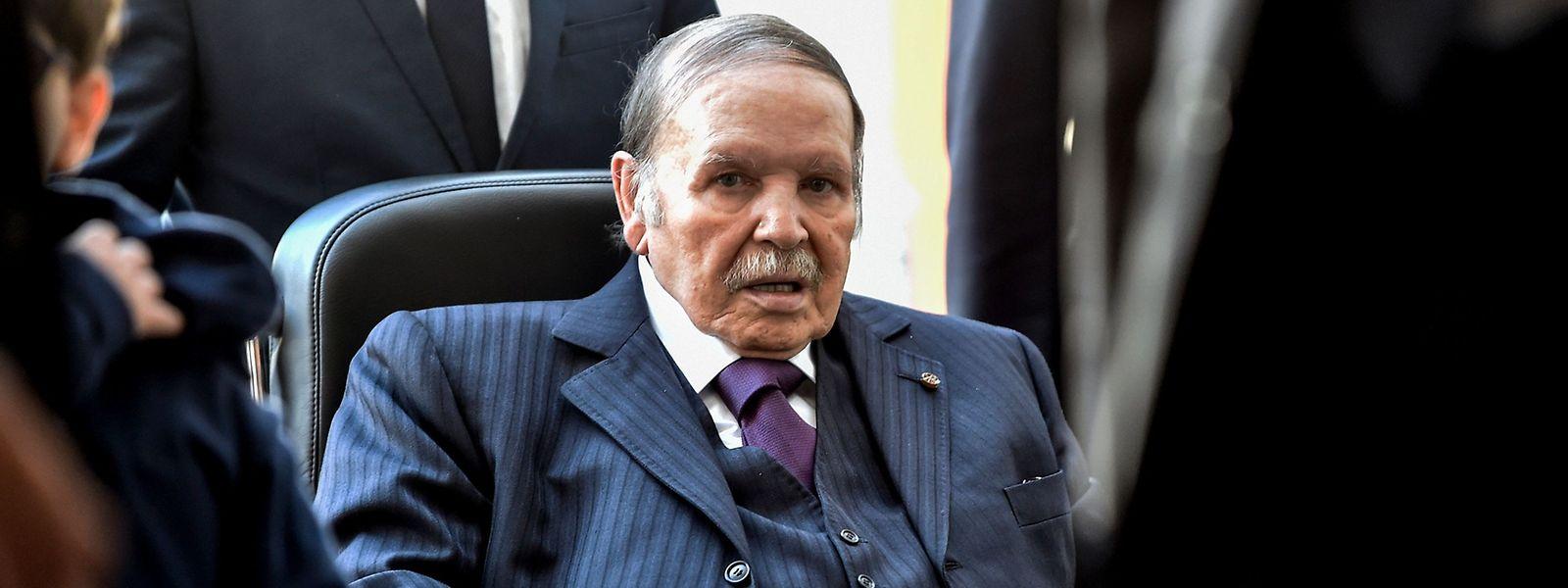 Abdelaziz Bouteflika auf einem Archivfoto aus 2017.