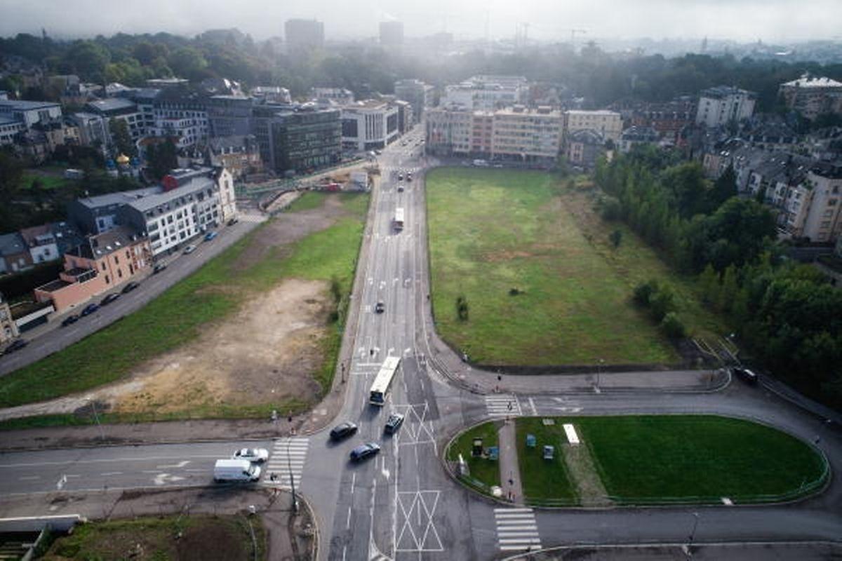 """D'ici l'été 2018, le tram devrait aller au """"Stäreplaz"""". C'est un point de transit important pour les passagers des bus RGTR venant de l'ouest."""