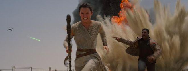 Das neue Power-Duo: Lumpensammlerin Rey (Daisy Ridley) und Ex-Stormtrooper Finn (John Boyega).