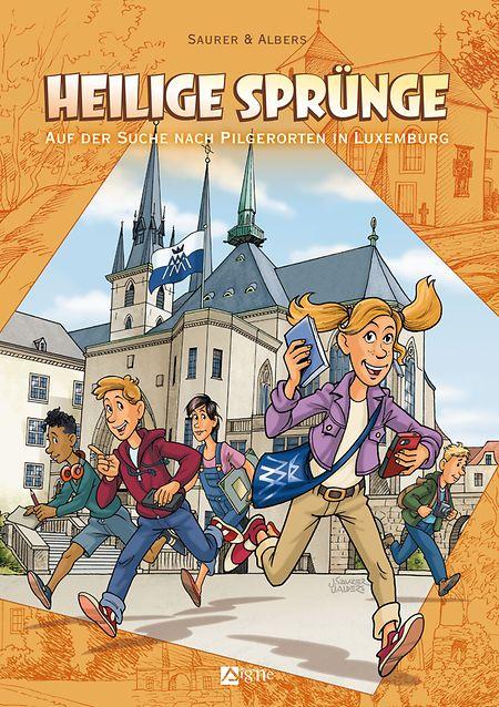 """Johannes Saurer/Ulrike Albers; Nach einer Idee von Renée Schmit und Wolfgang Fleckenstein: """"Heilige Sprünge"""", Editions du Signe, 60 Seiten, ISBN: 978-2746-8386-42, 15€."""