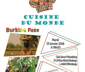 Cuisine du Monde à Differdange : Haïti et Burkina Faso