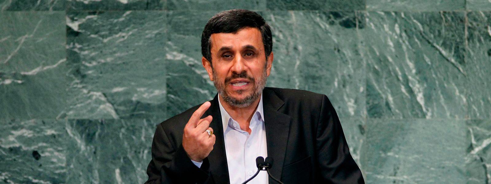Mahmud Ahmadinedschad 2012 bei den Vereinten Nationen.