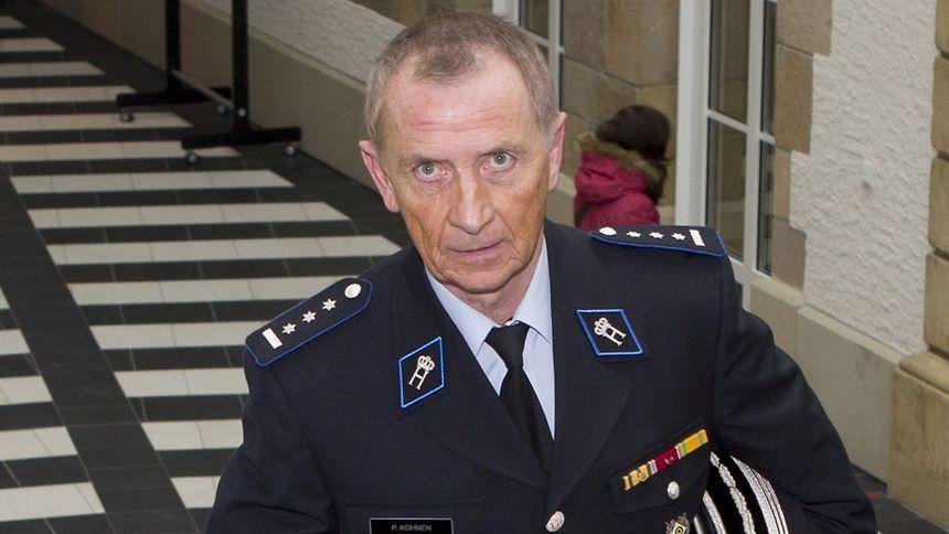 Pierre Kohnen kurz vor seiner Aussage im Bommeleeër-Prozess