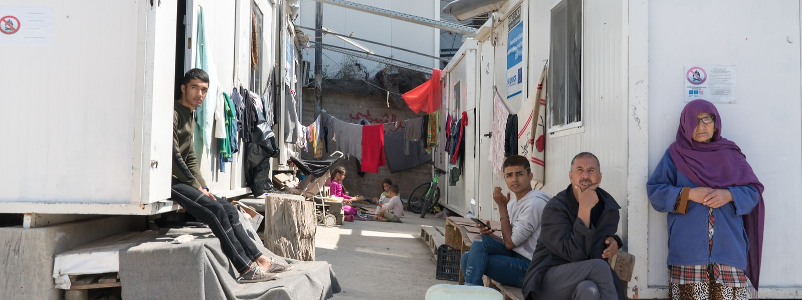Auf der griechischen Insel Lesbos kommen die Asylverfahren nur schleppend voran.
