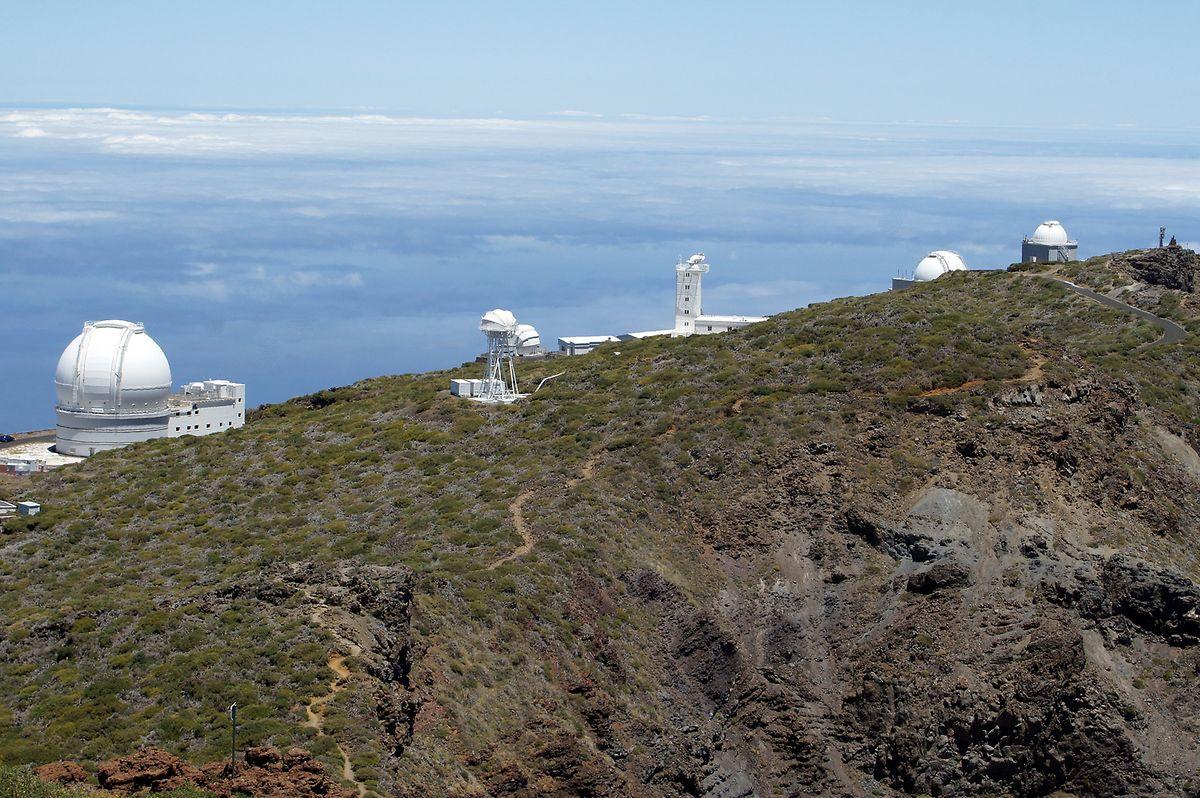 Ein Teil der Teleskope der Sternwarte auf dem Roque de los Muchachos.