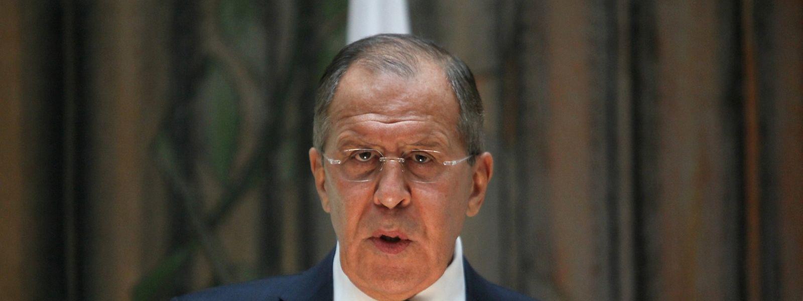 """Der russische Au0enminister Sergej Lawrow sagt, er habe das Wort """"Spinner"""" nicht aus Trumps Mund gehört - Comey sei generell kein Thema gewesen."""