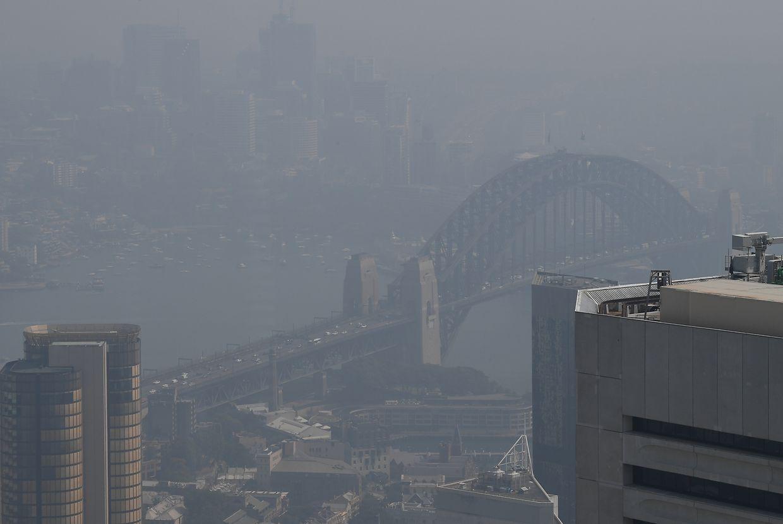 Buschbrände in Australien überziehen Sydney mit Rauchschwaden.