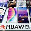 (FILE) This file photo taken on May 3, 2018 shows a Huawei logo in a shop in Shanghai. - China reacted furiously on December 6 after a top executive and daughter of the founder of Chinese telecom giant Huawei was arrested in Canada following a US extradition request, threatening to rattle a trade war truce with the United States. (Photo by Johannes EISELE / AFP)