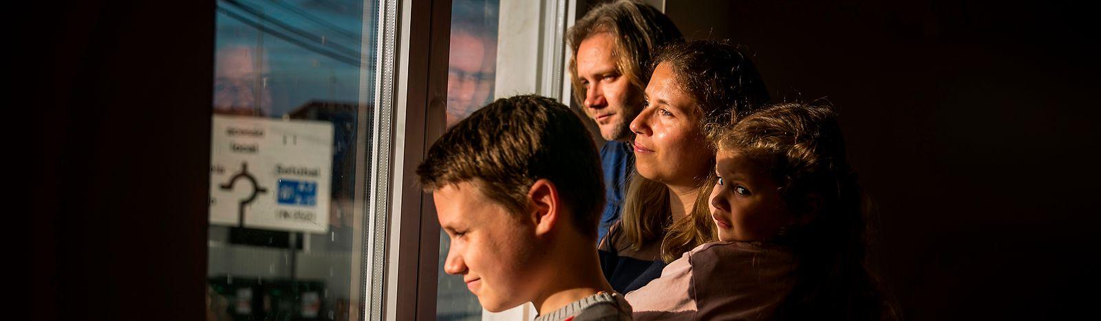 Helena Girão e  Pedro Rodrigues, com os filhos Eduardo e Beatriz vivem em Palmela.