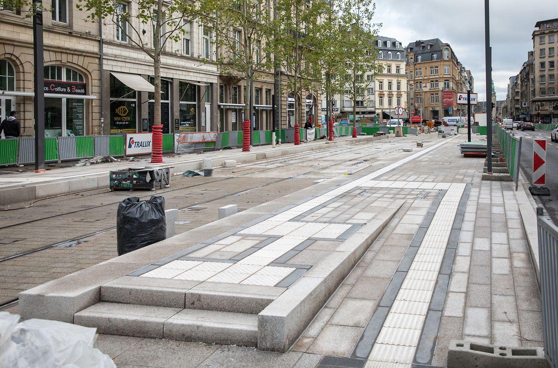 In der Avenue de la Liberté laufen die letzten Arbeiten auf Hochtouren.