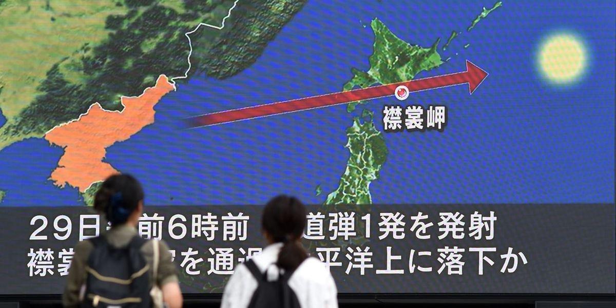 Nicht nur in Japan sorgte der Raketentest für Beunruhigung.