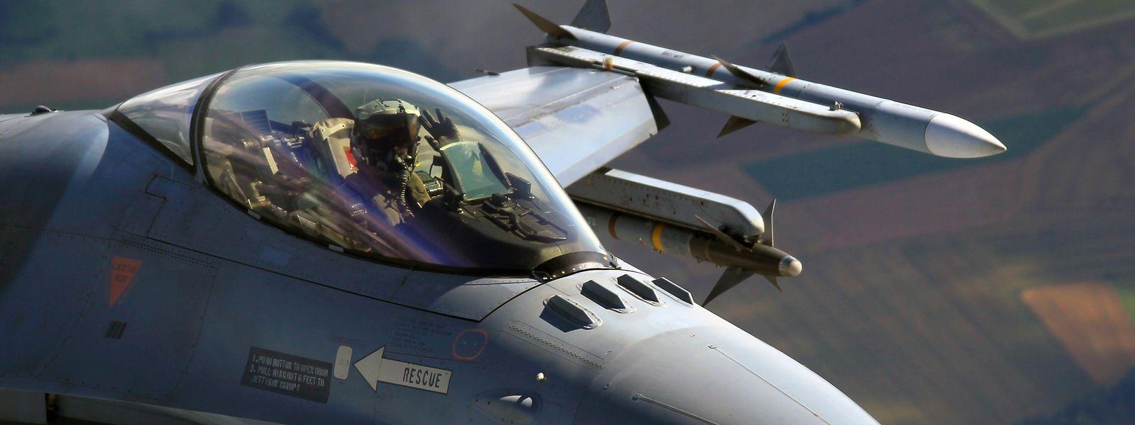 Die belgische Luftwaffe betreibt rund 60 Kampfjets des Typs F-16.