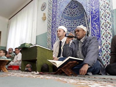 Worshippers at the Centre Culturel Islamique in Mamer