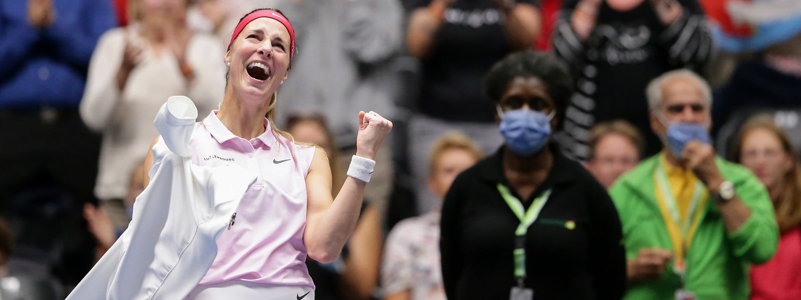 Glückliche Siegerin: Mandy Minella schreit ihre Freude heraus.
