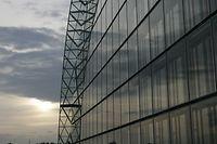 02.06.08 KIRCHBERG, BEI EIB, BANK, BANQUE, NEUES GEBEAUDE, NOUVEAU BATIMENT  PHOTO ANOUK ANTONY