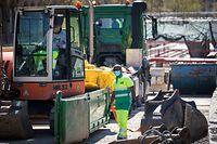 Wiedereröffnung Baustellen - COVID-19 - Tram Baustelle - Avenue de la Liberté - Foto: Pierre Matgé/Luxemburger Wort