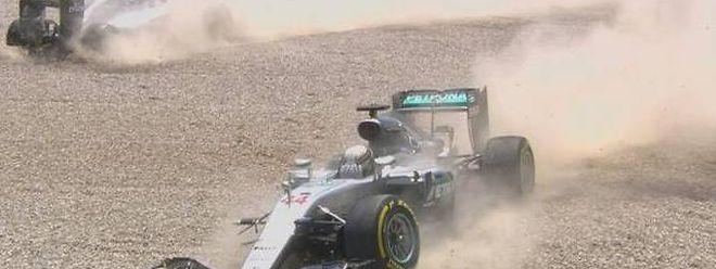 Beim Grand Prix von Spanien schossen sich die Mercedes-Piloten kurz nach dem Start gegenseitig ab.