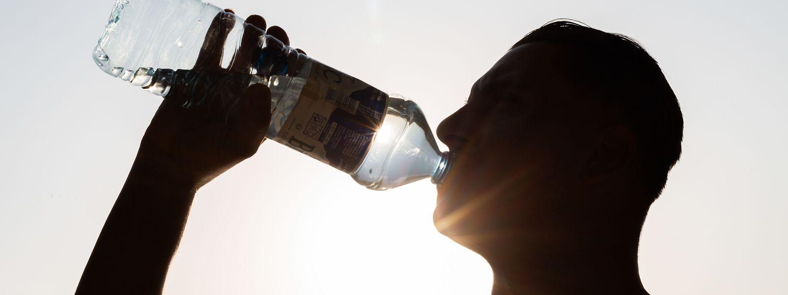 Bei hohen Temperaturen ist es wichtig, viel Wasser zu trinken.