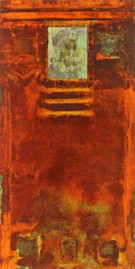 In seinen Werken vermischte Hienckes natürliche und künstliche Alterungsprozesse.