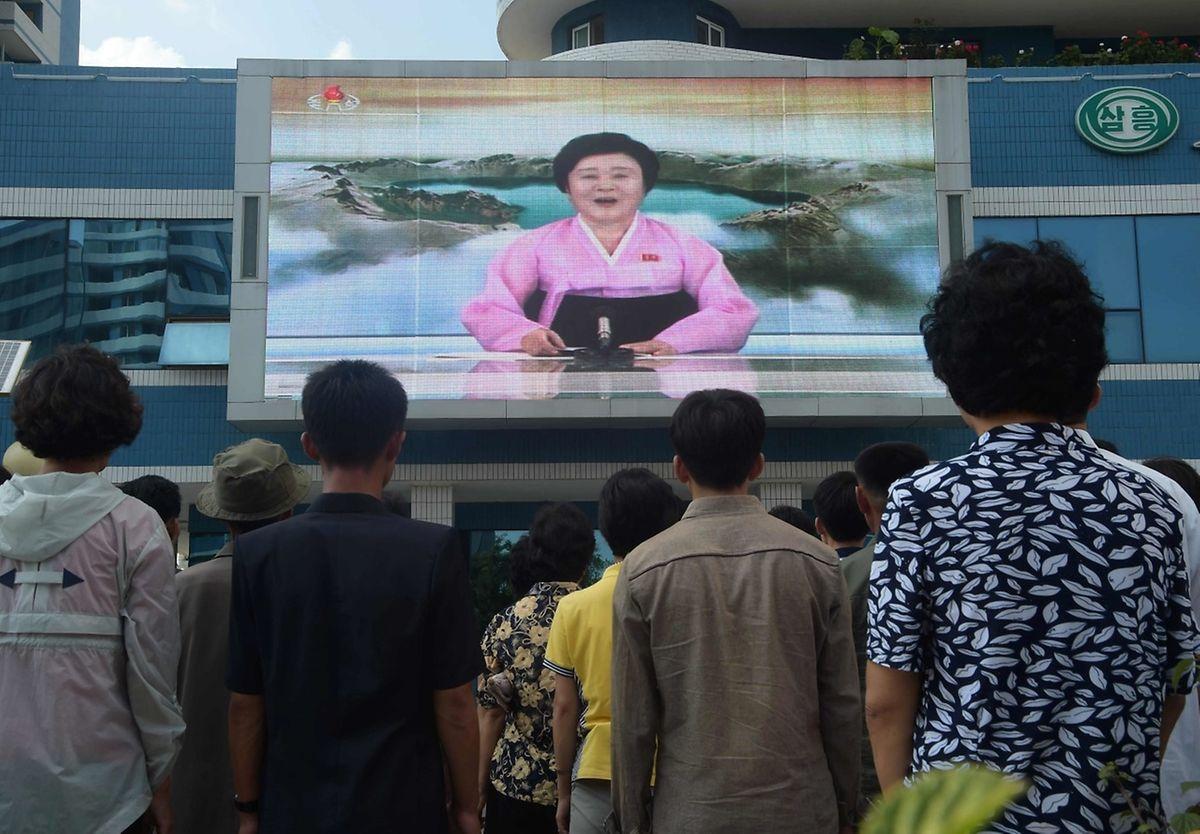 Der Test sei erfolgreich verlaufen, verkündete eine Sprecherin am Sonntag mit feierlicher Stimme im Staatsfernsehen.