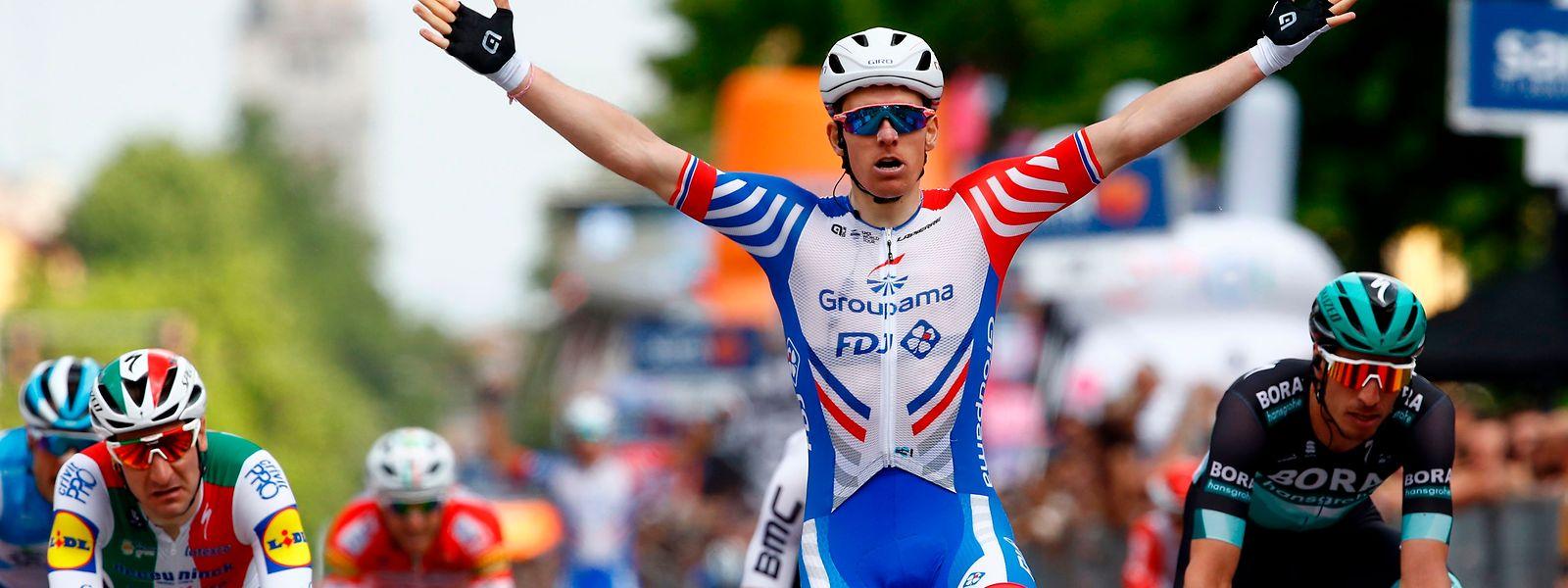 Arnaud Démare feierte seinen ersten Sieg bei diesem Giro d'Italia.