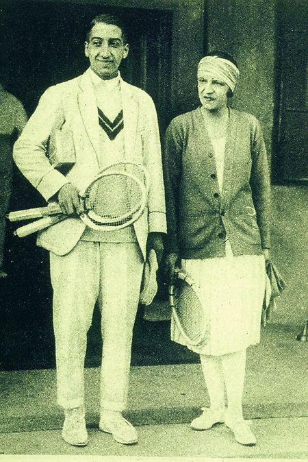 René Lacoste und Suzanne Lenglen.
