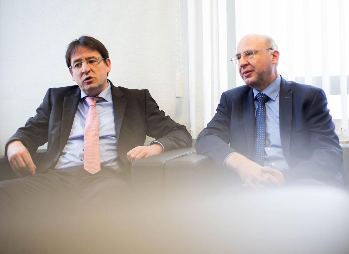 Mario Grotz et Jean-Marie Spaus, responsables des nouvelles technologies et de l'initiative EuroHPC