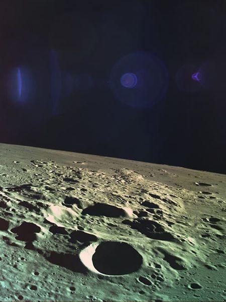 """Dieses Bild entstand unmittelbar vor dem Crash der Mondsonde """"Beresheet""""."""