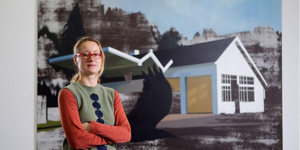 Tina Gillen, hier 2013 bei einer ihrer Ausstellungen in der Galerie Nosbaum Reding, wurde als Teilnehmerin für die Biennale 2021 ausgewählt.