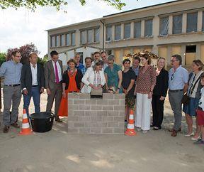 Jeudi 01.06.2017 ,17.00 heures  pose de la 1re pierre de l'extension et de la rénovation de l'école primaire , cycles 2-4 , sise 226, rue de Cessange , Luxembourg - Cessange , photo: Soubry Charles