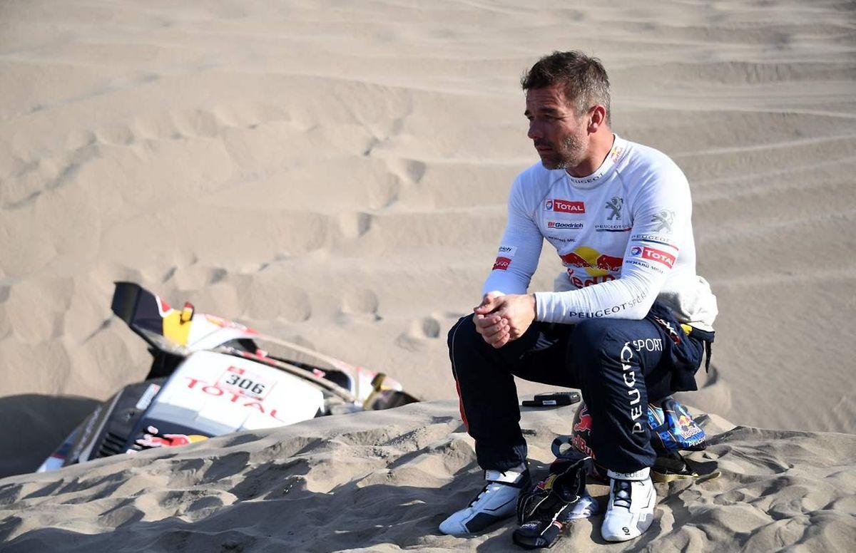 Dépité, Sébastien Loeb Sébastien Loeb n'a pas passé le cut du désert