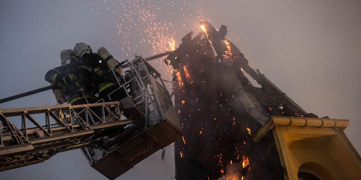 In Küntzig kam es am Dienstag zu einem Hausbrand.