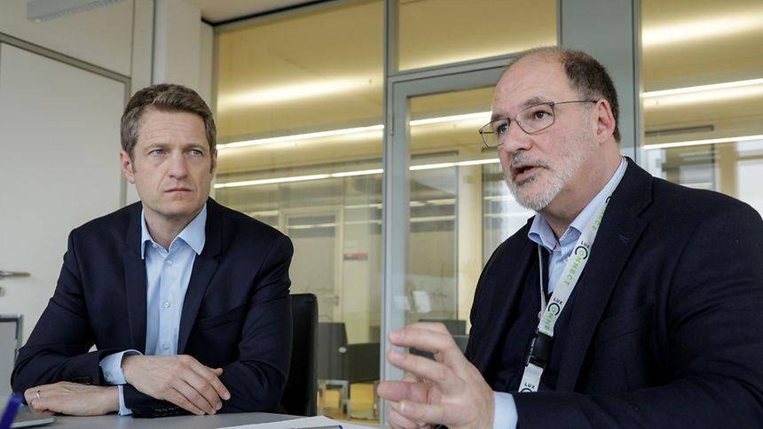 Claude Demuth et Roger Lampach l'assurent: les datacenters luxembourgeois ont toute la panoplie des offres possibles pour convaincre un marché où le cloud redistribue les cartes