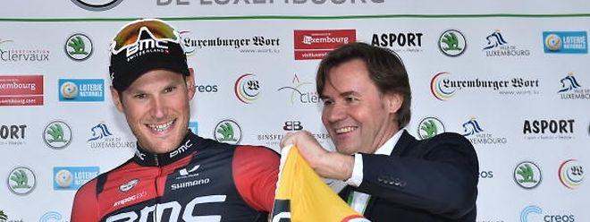 Jempy Drucker, hier bei der SkodaTour de Luxembourg 2016, streift demnächst vielleicht ein anderes Trikot über.