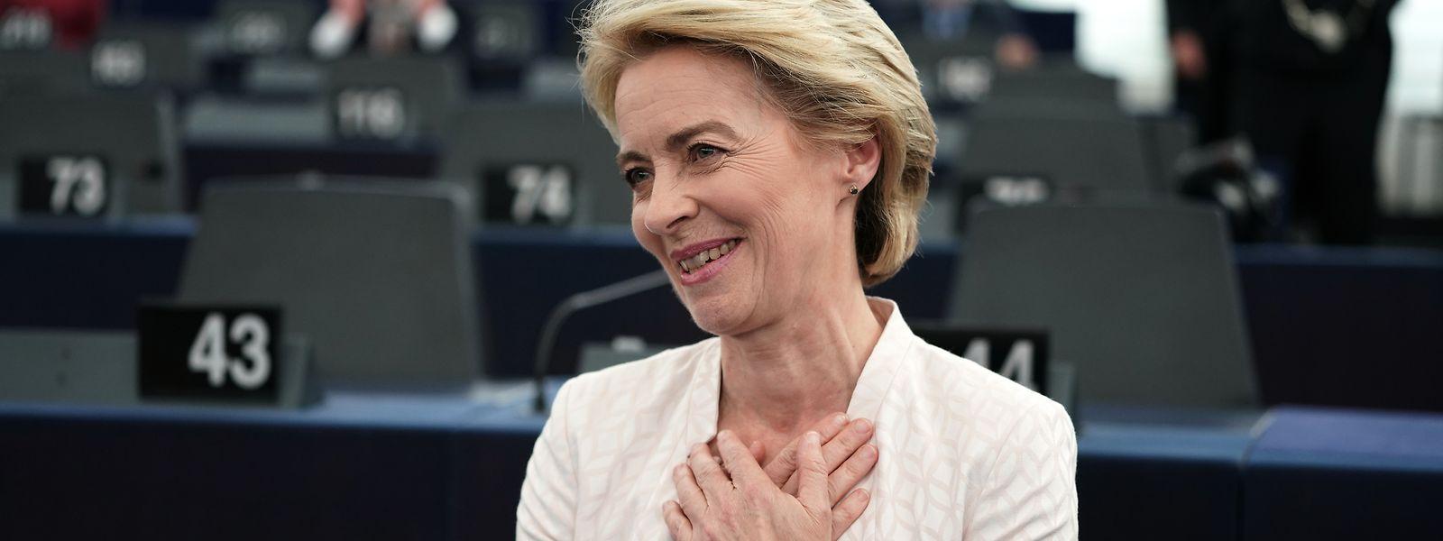 Ursula von der Leyen erreichte mit 383 Stimmen eine hauchdünne absolute Mehrheit.
