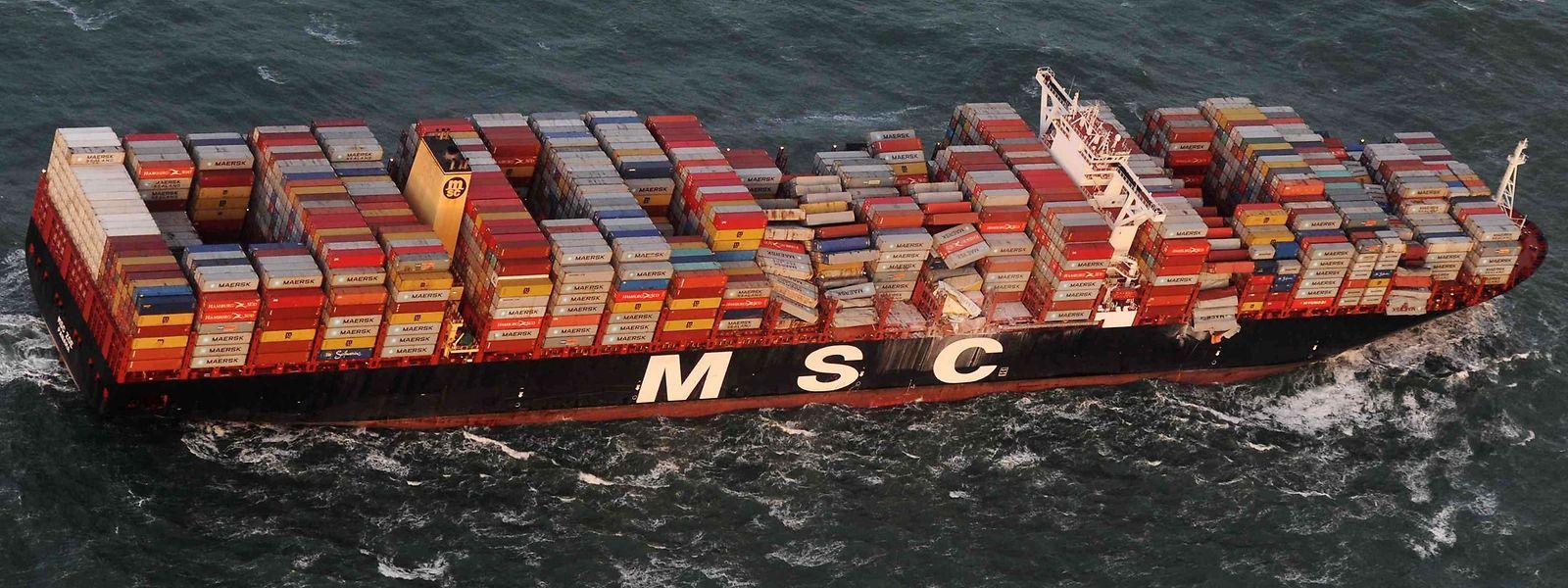 """Die """"MSC Zoe"""" kann bis zu 19.000 Container laden."""