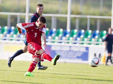 Fussball U21 EM Qualifikation Luxemburg Schottland 08.09.2014 Jeff Lascak (Luxemburg 9) - Foto: Christian Kemp