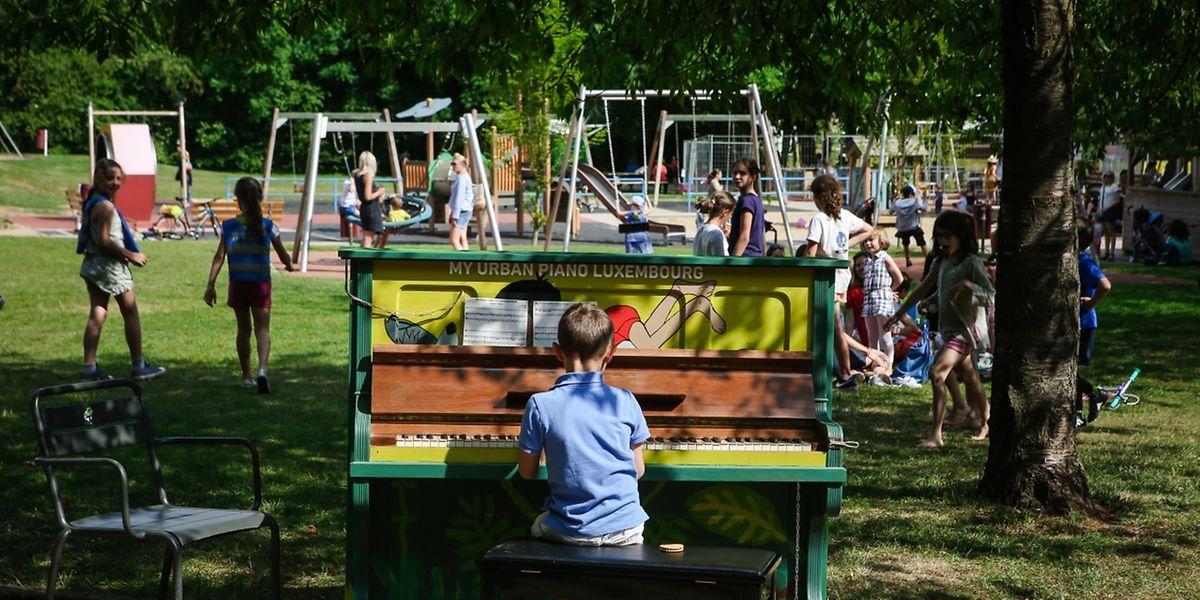 Ein kleines Konzert im Park in Merl gab dieses junge Talent.