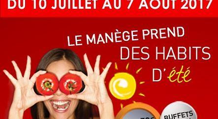 LE MANÈGE PREND DES HABITS D'ÉTÉ