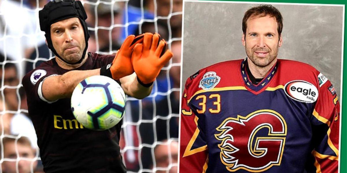 Après les ballons de foot, place aux palets de hockey pour Petr Cech