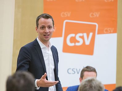 Serge Wilmes, pictured, was elected leader of the CSV in Luxembourg City