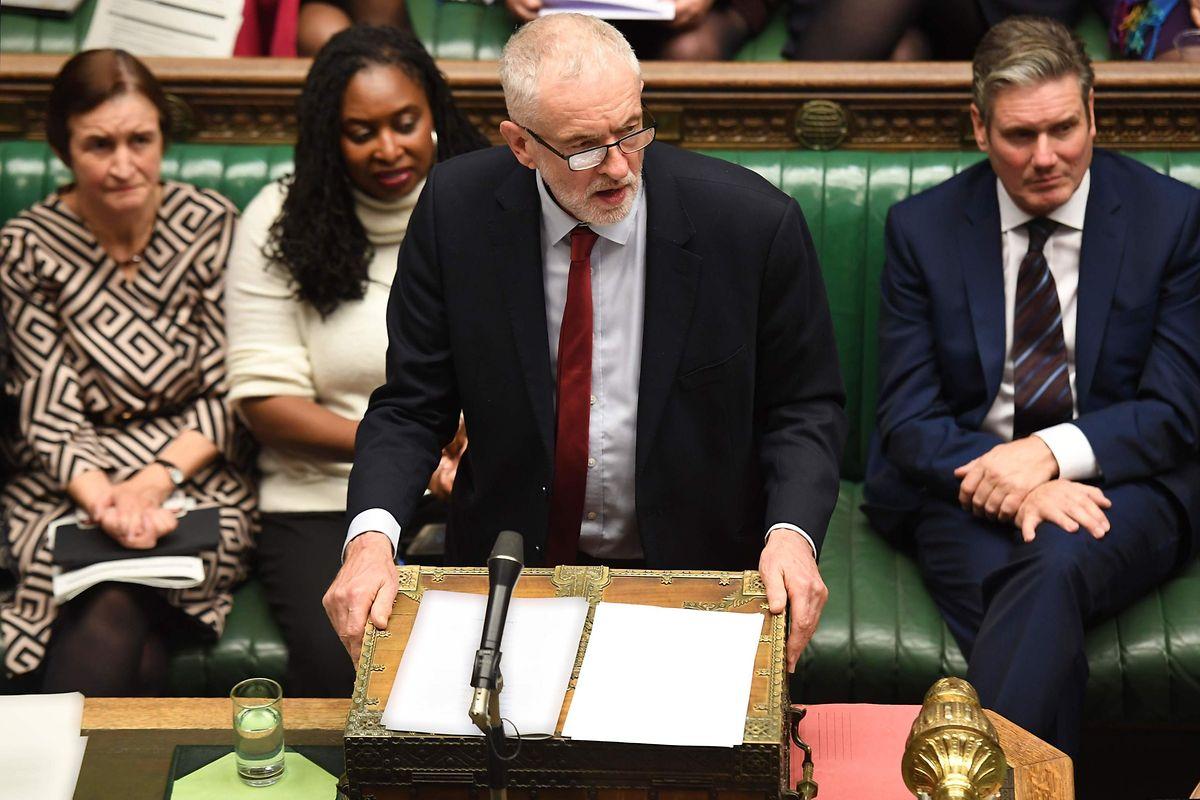Labour-Chef Jeremy Corbyn lehnt den Brexit-Deal von Boris Johnson ab.