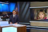 """HANDOUT - 02.07.2020, ---: Das Standbild aus der ZDF-Sendung «Aktenzeichen XY... ungelöst» vom 01.07.2020 zeigt Moderator Rudi Cerne vor einem Bild des vor 13 Jahren verschwundenen Mädchens Maddie McCann. Nach dem erneuten Zeugenaufruf zum Fall des verschwundenen Mädchens sind seit Anfang Juni mehr als 800 Hinweise beim Bundeskriminalamt (BKA) eingegangen. (zu dpa """"Fall Maddie: Mehr als 800 Zeugenhinweise nach «Aktenzeichen XY») Foto: ZDF/dpa - ACHTUNG: Nur zur redaktionellen Verwendung im Zusammenhang mit einer Berichterstattung über «Aktenzeichen XY... ungelöst» - Fall Maddie und nur mit vollständiger Nennung des vorstehenden Credits +++ dpa-Bildfunk +++"""