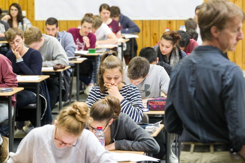 Ein Blick in den Prüfungssaal des Lycée de Garçon.