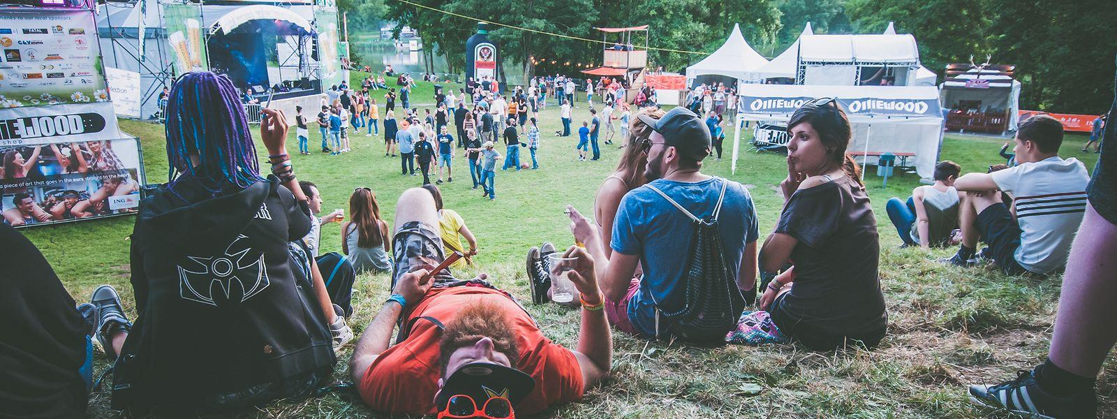 Das e-Lake Festival im Jahr 2016. Dieses Jahr findet es nicht am See, sondern im Abteihof statt.