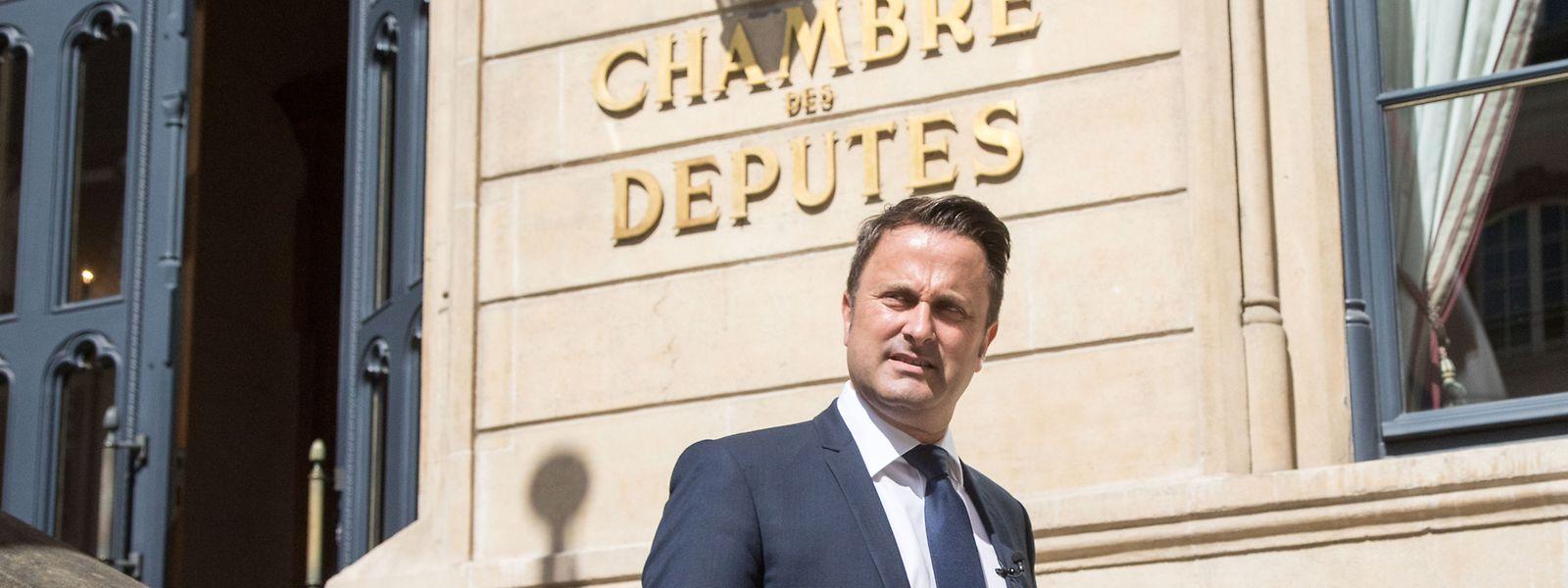 Rendez-vous im Parlament: Premier Xavier Bettel erläutert am Nachmittag die Lage des Landes.