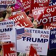 FORT WAYNE, IN - NOVEMBER 05: Supporters wave campaign signs during a capmpaign rally for Republican Senate candidate Mike Braun and attended by U.S. President Donald Trump at the County War Memorial Coliseum November 5, 2018 in Fort Wayne, Indiana. Braun is facing first-term Sen. Joe Donnelly (D-IN) in tomorrow's midterm election. Trump is campaigning nationwide in an effort to bolster GOP prospects.   Aaron P. Bernstein/Getty Images/AFP == FOR NEWSPAPERS, INTERNET, TELCOS & TELEVISION USE ONLY ==