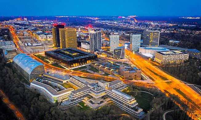 Kirchberg's residential population will quadruple as new housing extends the district considerably